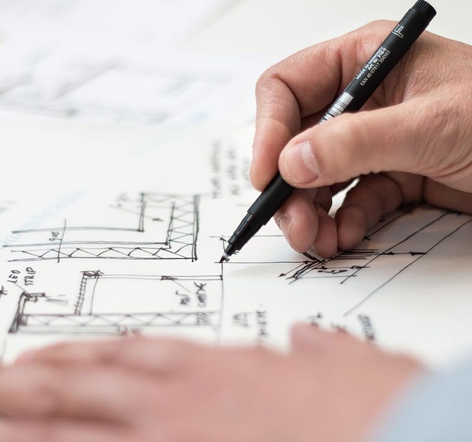 Neubau Plan Zeichnung