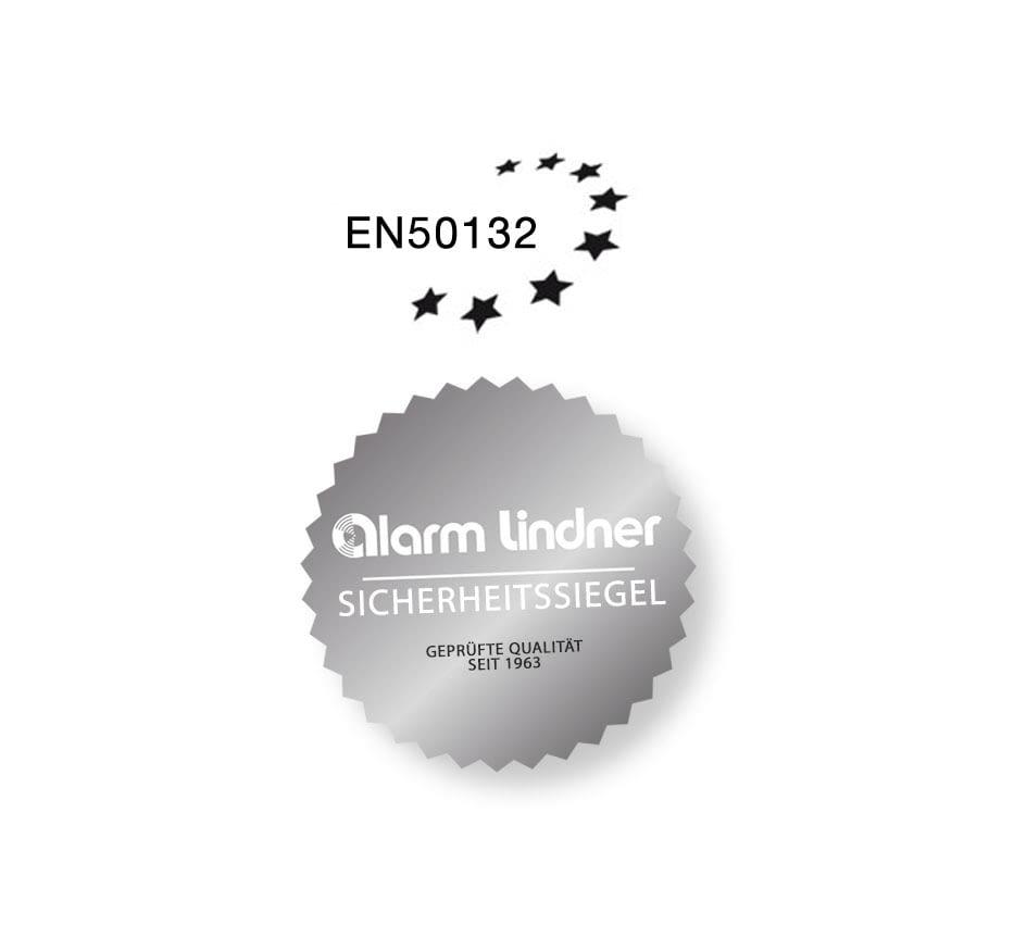 Siegel Norm EN50132 und Alarm Lindner
