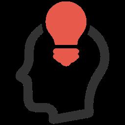 Icon Figur mit Glühbirne