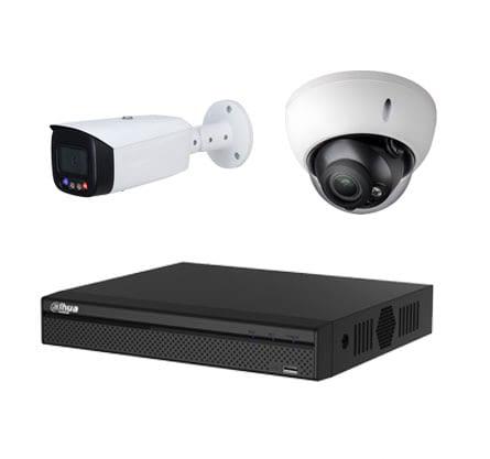 Hochwertige Videoüberwachungskameras mit einem Rekorder