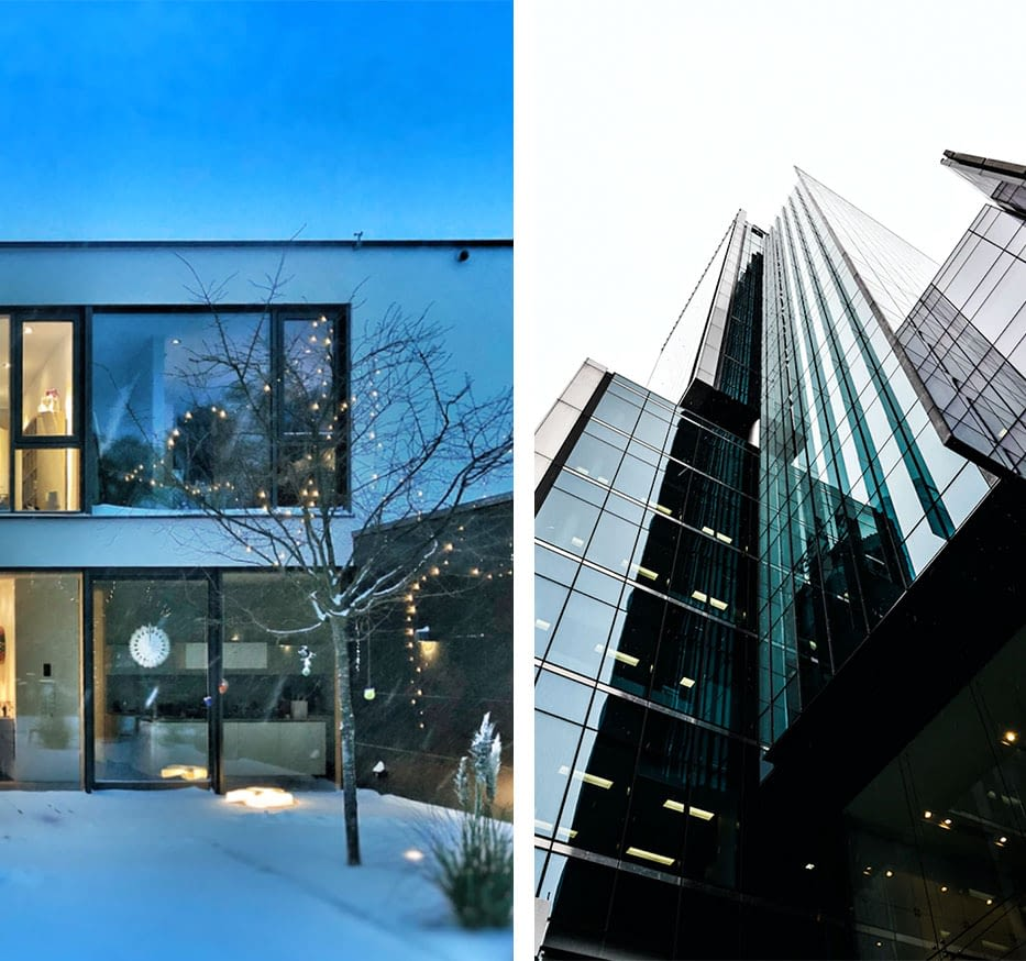 Privat und Gewerbe Gebäude
